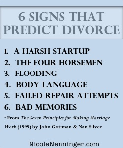 what predicts divorce and relationship dissolution