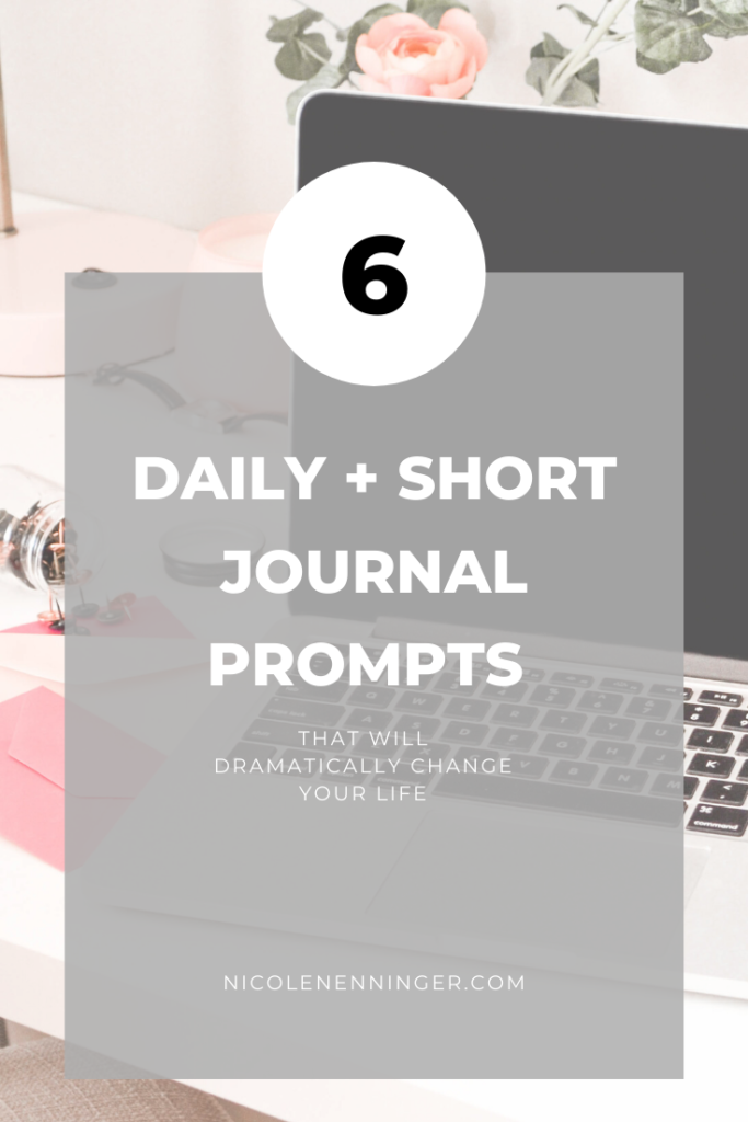 Journal prompts that use inspiration and gratitude for self care, reflection, and manifestation.